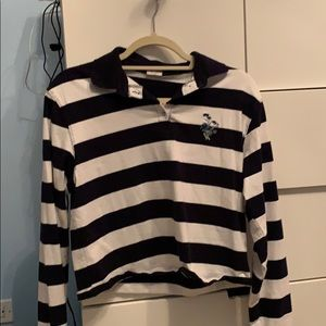 BRANDY MELVILLE STRIPED LONG SLEEVE W EMBROIDERY